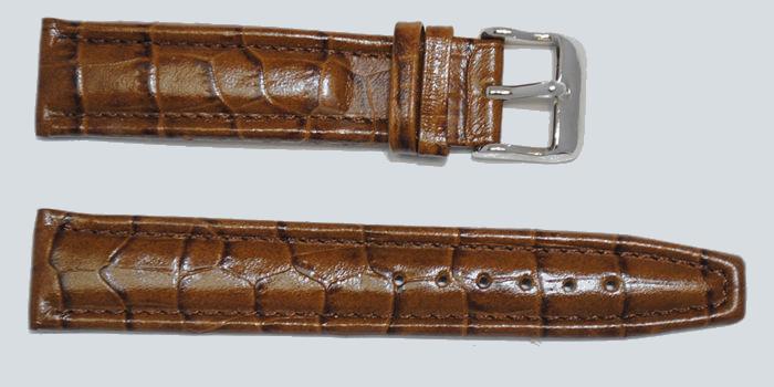 Bracelet montre marron triple joncs