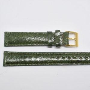bracelet montre saumon véritable vert olive