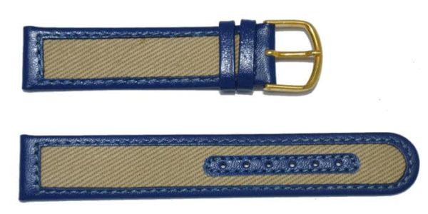 bracelet montre jeans et cuir