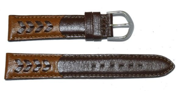 Bracelet-avec-tresse-marron