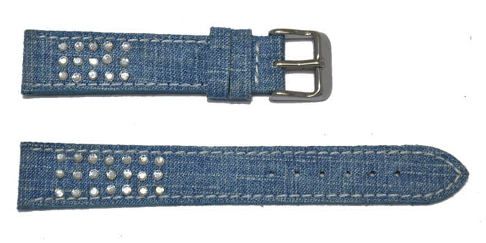 bracelet montre jeans et strass