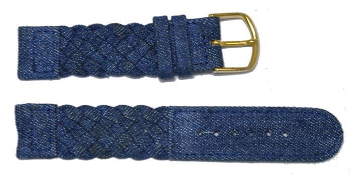 bracelet montre-tressé-jeans