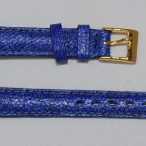 bracelet montre cuir de poisson maruca bleu
