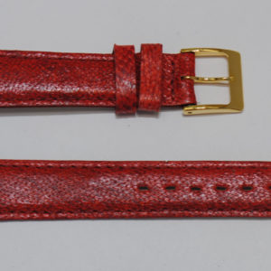bracelet montre cuir de poisson rouge